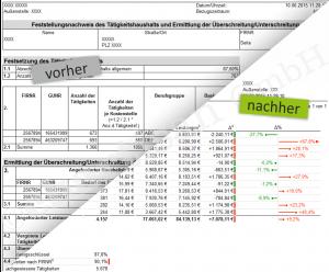 Formular Design vorher - nachher