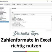 chartisan gibt Tipps um Zahlenformate in Excel richtig zu nutzen